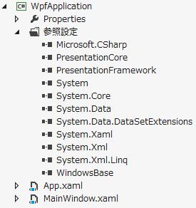 WPF アプリケーションで参照している .NET