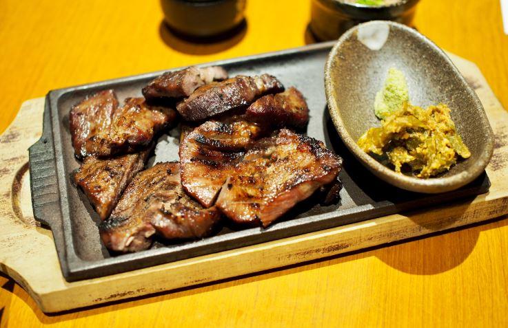 懇親会で食べた牛タン